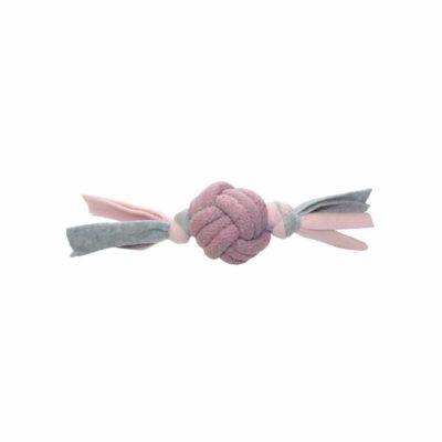Little Rascals Fleecy Rope Tugger Pink