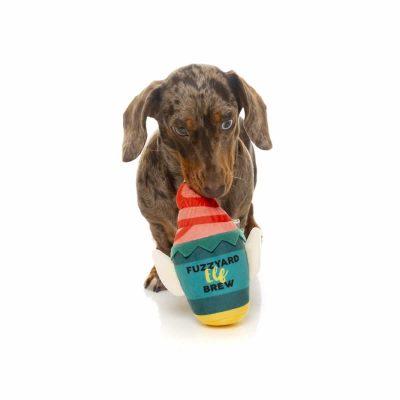 Fuzzyard Elf Brew Dog Toy with Daschund