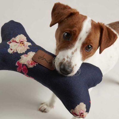 joules-plush-bone-dog-toy-navy-floral-lifestyle