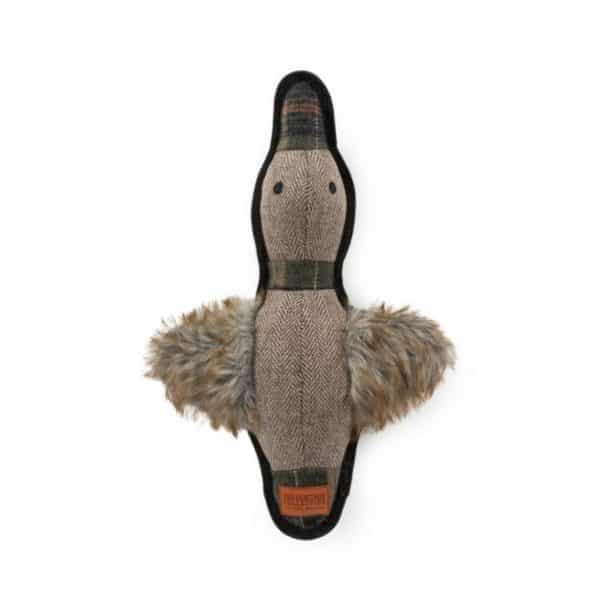 ancol-heritage-tweed-duck-dog-toy