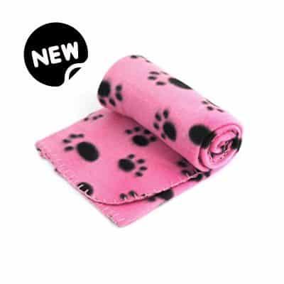 pink paw snuggle blanket